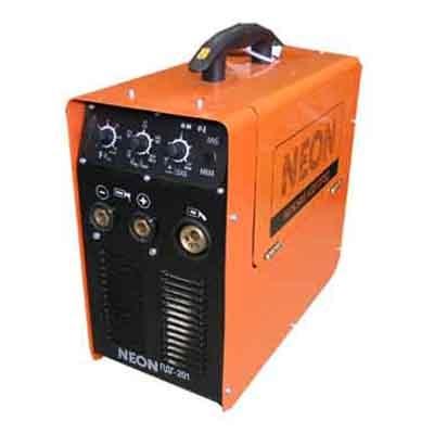 Сварочный инверторный полуавтомат neon пдг-201 предназначен для полуавтоматической дуговой сварки (mig/mag)